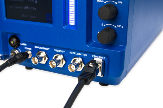 Laser Vibrometer Analoge und Digitale Verbindungen